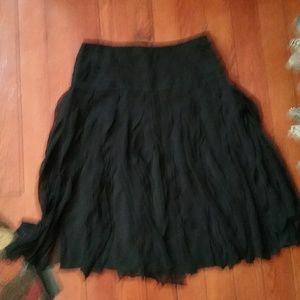 Dresses & Skirts - Womens Black Fringe Skirt Size 4